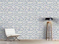 Design #Tapete Blätter Sammeln