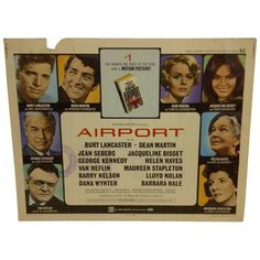 """1970 Vintage Movie Poster of """"Airport"""" ($75) ❤ liked on Polyvore featuring home, home decor, wall art, posters, vintage film posters, vintage wall art, vintage posters, vintage home accessories and star home decor"""