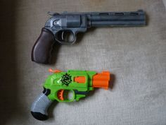 Nerf DoubleStrike, InLine Clip - Before and After by hoellenhamster on DeviantArt