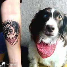 dog, tattoo, and animal image Dog Tattoos, Wrist Tattoos, Animal Tattoos, Sexy Tattoos, Cute Tattoos, Beautiful Tattoos, Flower Tattoos, Body Art Tattoos, Beautiful Beautiful