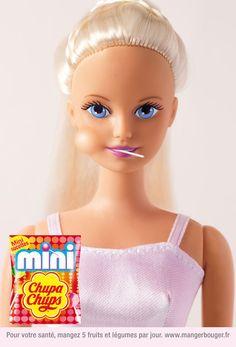 Barbie Print Ads for Mini Chupa Chups