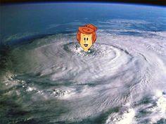 Hurricane Wilma by gatoreena, via Flickr (we always need a little levity)