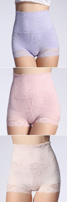 Sexy Lace High Waist Hip Abdomen Tummy Control Panties