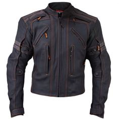 Vulcan VTZ-910 leather motorcycle jacket