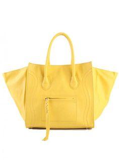 Yellow Fashion Satchels Bag With Tassel$45.00