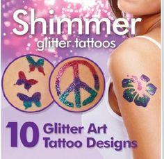 G-ART : Shimmer Glitter Tattoos Creative DIY Water Proof Create Your Own Professional Body Art As Seen On TV. Type:Temporary Tattoo. ::. Model Number:123. Unit Type:piece. Package Weight:0.100kg (0.22lb.).