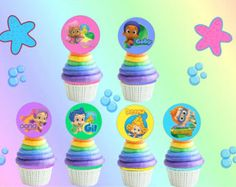 24 Bubble Guppies Cupcake Toppers and 6 by HandmadePartyDecor Second Birthday Ideas, 3rd Birthday Parties, 2nd Birthday, Birthday Stuff, Birthday List, Bubble Guppies Birthday, Bday Girl, Birthday Board, Birthday Decorations