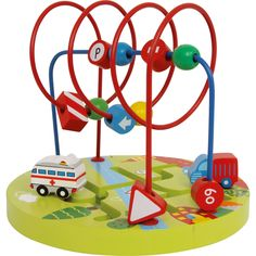 Wide selection of wooden activity toys, including stacking, bead frames, building blocks by Wood and Wonder