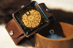 very cool leather watch.