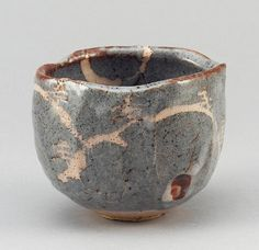 Wakao Toshisada - Nezumi Shino style Chawan