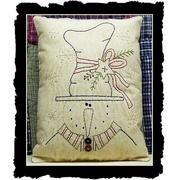 Stitched snowman pillow