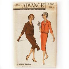 1950 Suit Pattern Box Jacket with Three-quarter by SelvedgeShop