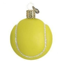 Old World Christmas Glass Ornament   Tennis Ball www.atlanticbeachcountryclub.com