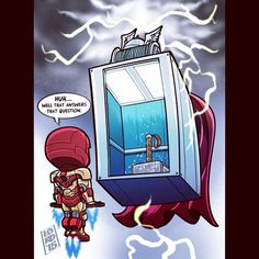 The Mighty Eleva-Thor!!! Alternate Universe in which the elevator IS worthy...