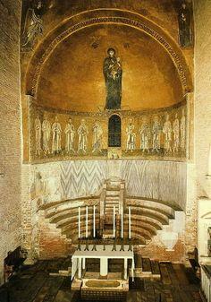 Interior of the Church of Santa Maria Assunta in Torcello, Italy