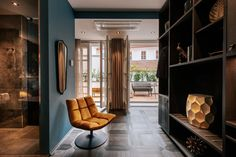 """There is one word no one would use in connection with the new AIOLA LIVING Hotel in Graz's old town, and that is """"inconspicuous"""". Interior Concept, Interior Design, Hotel Breakfast, Grand Budapest Hotel, Hotels, Bring Them Home, Bed Springs, Hotel Guest, Hotel Interiors"""