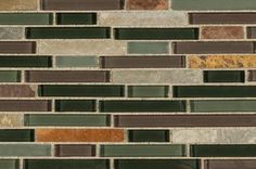 BuildDirect – Mosaic Tile - Glass Stone Blends – California Gold Interlocking - Close View