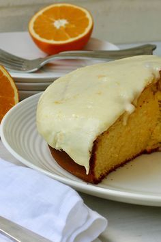 """Orange Yoghurt Cake by granna - """"This really was an easy recipe. I used oranges from my garden & some home made yoghurt and it came out perfect. Sweet Desserts, Sweet Recipes, Delicious Desserts, Yummy Food, Yummy Recipes, Recipies, Baking Recipes, Cake Recipes, Dessert Recipes"""