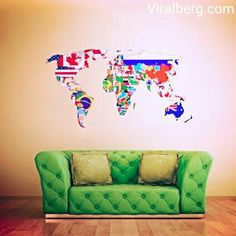 Full color wall decal mural sticker decor art world map watercolor full color wall decal mural sticker decor art world map watercolor water paintings col346 stickersforlife httpamazondpb00iofb2dcref gumiabroncs Image collections