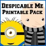 Despicable Me Printable Pack--lots of other popular characters too!