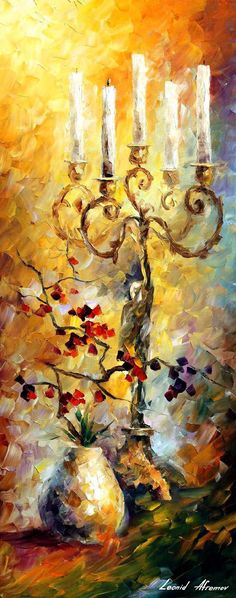 ORIENTAL DREAMS 1 — PALETTE KNIFE Oil Painting On Canvas By Leonid Afremov