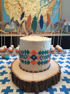 Little Indian birthday party cake! See more party ideas at CatchMyParty.com!