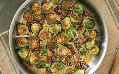 Glazed Brussels Sprouts with Toasted Pecans
