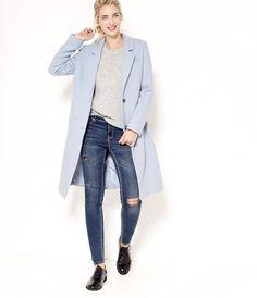 Manteau femme bleu marine camaieu