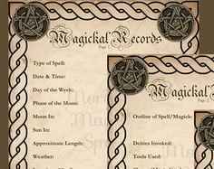 MOON WATER Digital Download Book of by MorganaMagickSpell