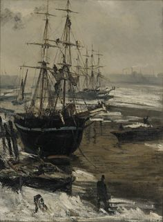 The Thames in Ice, 1860, James Abbott McNeill Whistler