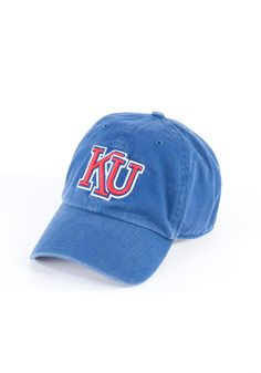 43cedf8113c7b KU Jayhawks Jayhawks Mens Royal Clean Up Adjustable Hat Kansas Jayhawks