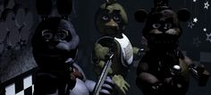 13 Rare Five Nights at Freddy's Screens You May Not Have Seen - Five Nights at Freddy's // The bots all looking at the camera (Cam 1A)
