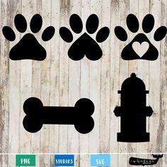 Paw Print Art, Paw Prints, Puppy Birthday, Birthday Ideas, Animal Crafts, Dog Crafts, Bone Fire, Dog Bones, Dog Items