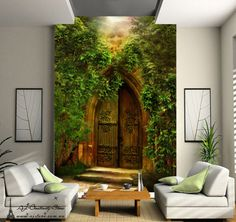 Mysterious Door Wall Paper Wall Print Decal Wall Deco Indoor wall Mural Home