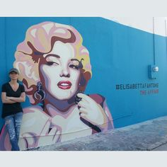 #ElisabettaFantone Elisabetta Fantone: Finally finished my #MarilynMonroe portrait on my #mural. #ArtBasel #Wynwood #ElisabettaFantone