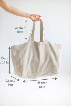 Linen Bag, Linen Fabric, Large Tote, Large Bags, Oversized Beach Bags, Basket Bag, Fabric Samples, Natural Linen, Handmade Bags