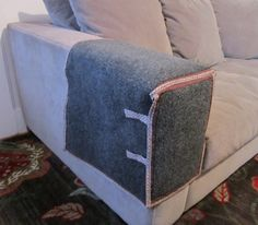 Cat Scratching Couch or Chair  Arm Protection by ThePracticalCat, $25.00