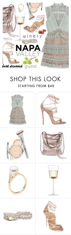"""""""Best Dressed Guest: Winery"""" by ansev ❤ liked on Polyvore featuring self-portrait, Dsquared2, It Cosmetics, Ina Kent, LSA International, napa, winerywedding, bestdressedguest and vineyardwedding"""