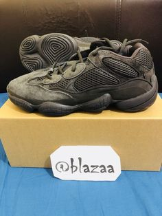 932bdcebb Yeezy 500 Utility Black Desert Rat Trainers - UK 10 US 10.5 with receipt   adidas
