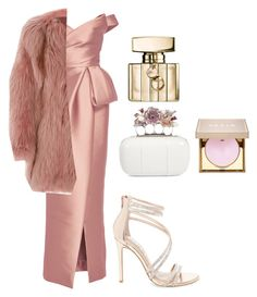 """""""Untitled #728"""" by vaniadenisse16 ❤ liked on Polyvore featuring Monique Lhuillier, J. Mendel, Steve Madden, Alexander McQueen, Gucci and Stila"""
