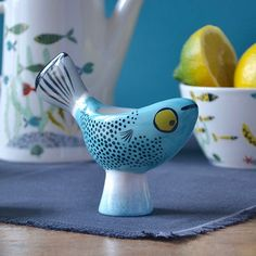 Blue Fish Egg Cup by Hannah Turner