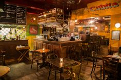 Prepare for liberation and libations amigos as Leeds gets a full-blown taste of Latin America at Sandinista, a fun and feisty cocktail joint. Leeds Bars, Best Tapas, Spanish Tapas, Cocktail Menu, Drink Menu, Cool Bars, Restaurant Bar, Soul Food, Craft Beer