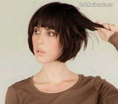 20 Best Short Hair with Bangs - 13 #ShortBobs
