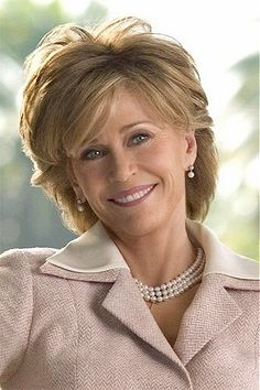 Jane Fonda - This slightly longer version of her usual hair style is great.