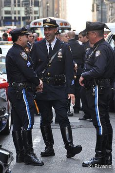 007 Columbus Day Parade - NYPD Highway Patrol   Chillaxing w…   Flickr