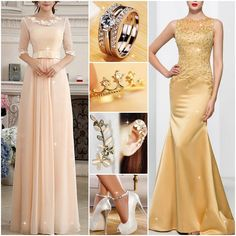 Hello dear, left or right for you? #Outfits #PromDress #PartyDress #Ring #Earrings #Shoes #Fashion #FreshFashion