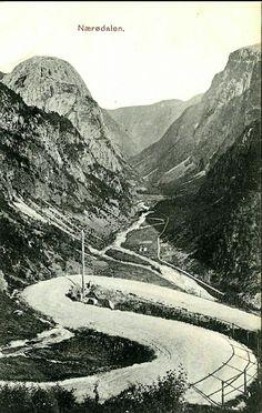 Sogn og Fjordane fylke Aurland kommune Nærøydalen utg C. A.  Erichsen, Kristiania tidlig 1900-tallet
