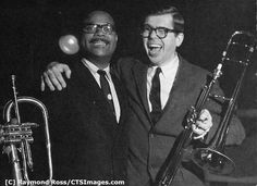 Clark Terry & Bob Brookmeyer / Photo by Raymand Roos / STSImages