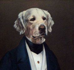 He owes its success to the Aristochians, realistic portraits of aristocratic dogs. Animals And Pets, Funny Animals, Encaustic Art, Dog Portraits, Animal Paintings, Dog Art, Animal Pictures, Dog Lovers, Labradors