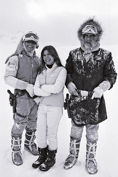 Mark Hamill, Carrie Fisher, and Harrison Ford